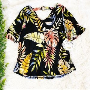 NWT Tropical Floral Top